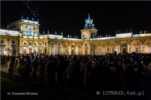II Królewski Festiwal Światła - Wilanów 2014.8